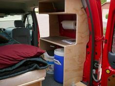 I don't want to bore you with continuous reports on my Road Trip, so I am going to throw in a Readers Guest Post on converting a Ford Transit to live in. My friend Randy did a great job and … Converting a Ford Transit Connect Read Small Camper Vans, Small Campers, Cool Campers, Rv Campers, Ford Transit Connect Camper, Ford Transit Camper, Camping Items, Van Camping, Cheap Rv Living