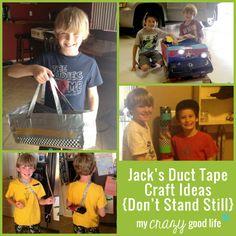 Jack's Duct Tape Craft Ideas