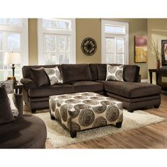 Chelsea Home Charlotte Large 3-Piece Reclining Sofa Sectional ...