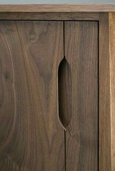 38 Handleless Cabinets Design Inspiration - The Architects Diary Furniture Handles, Wooden Furniture, Furniture Design, Cheap Furniture, Walnut Furniture, Furniture Buyers, Furniture Nyc, Furniture Websites, Furniture Removal