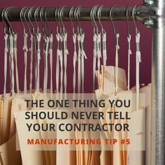 Tip #5: How to Work With a Sewing Contractor Tip #5
