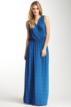 Stripe Surplice Maxi Dress on HauteLook. huuuwant