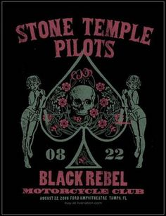 Stone Temple Pilots Concert Poster by Methane Studios