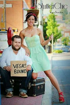 Vegas themed engagement photos