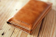2014 Artisan Iphone leather wallet. Iphone 5s case. Iphone 5s wallet. Camel leather wallet. Hand stitched leather case. Perfect gift. IPH022