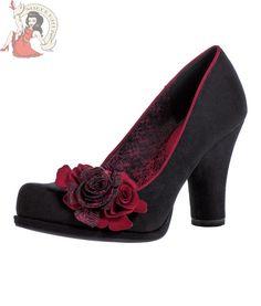 RUBY SHOO WOMENS EVA SHOES heels BLACK & RED #RubyShoo #CourtShoes