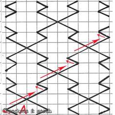 sashiko: diamond pattern 1