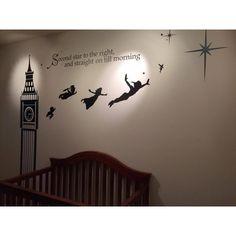 Disney Peter Pan Big Ben Wall Decal Sticker