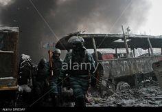 Kiev, Ukraine. 22nd Jan, 2014. Clashes as mass protests in Kiev continue. Credit: Sergii Kharchenko/NurPhoto/ZUMAPRESS. com/Alamy Live News