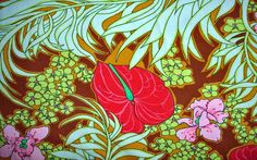 Retro Tropical Backtound  60s Hawaiian Wallpaper Background