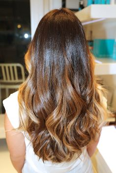 Brunette ombre, color by Johnny Ramirez (Yes I did just pin myself, I figured it was only right since I showed Johnny what pinterest was all about.)