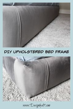 Super Easy DIY bed frame for use with your existing box spring bed. Step by step. - Super Easy DIY bed frame for use with your existing box spring bed. Step by step tutorial. Bedroom Furniture Makeover, Bed Furniture, Bedroom Ideas, Bedroom Decor, 50s Bedroom, Bedrooms, Queen Bedroom, Black Furniture, Decor Room