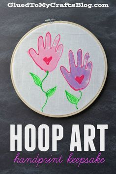 Embroidery Hoop Handprint Keepsake