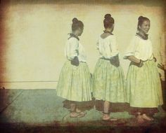 For our breezeway-   Hula dancers  Fine Art Photograph pale mint green by honeytree, $21.00