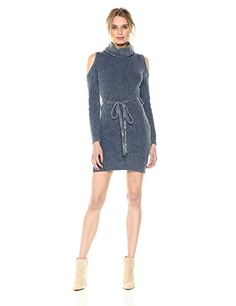 Blu Pepper Women's Knit Cold Shoulder Sweater Dress, Navy. Look fashionable and modern this fall with sweater women dresses. These cute sweater dresses women are fun and trendy. Spice up your wardrobe with cold shoulder dresses women or cozy up with and oversized sweater dresses women. Here you will find a variety of sweater dresses fall such as sweatshirt hoodie dress, turtle neck sweater dress, long sweater dress women and many more beautiful styles.