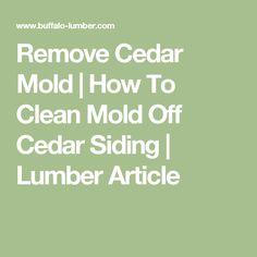 Remove Cedar Mold   How To Clean Mold Off Cedar Siding   Lumber Article