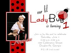 invitation idea - #ladybug birthday
