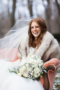 Happy Bride |  | Glamorous Winter Wedding | The Jon Hartman Photography Co | Bridal Musings Wedding Blog