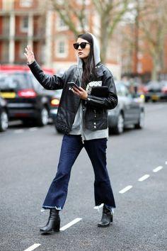 The Street Style Way to Wear a Hooded Sweatshirt