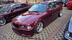 Calypsorot BMW e36 coupe on cult classic OZ Mito I wheels