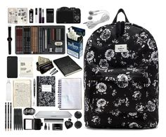 """""""In my bag"""" by crybabycry ❤ liked on Polyvore featuring OBEY Clothing, CO, Aspinal of London, AmeriLeather, Comodynes, Montblanc, Incase, Seletti, Clips and NARS Cosmetics"""