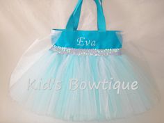 Tutu Bag Birthday Party Pack for a Disney Frozen by kidsbowtique