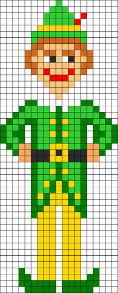 Christmas Buddy The Elf perler bead pattern