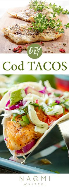 Healthy Recipes Grilled Wild Cod Tacos with Collard Wraps What Is Healthy Food, Healthy Foods To Make, Healthy Eating Recipes, Clean Eating Snacks, Lunch Recipes, Mexican Food Recipes, Healthy Life, Healthy Snacks, Healthy Wraps