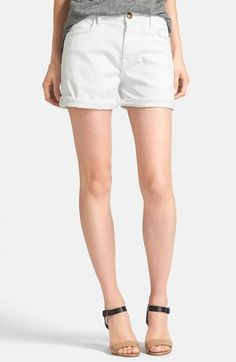 Current/Elliott 'The Boyfriend' Rolled Shorts (Sugar) available at #Nordstrom