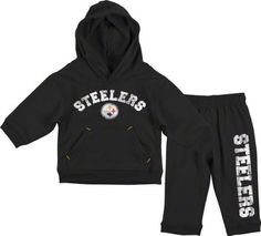 Set Steelers infant Hoodie and Pants The Pittsburgh Fan. $29.99