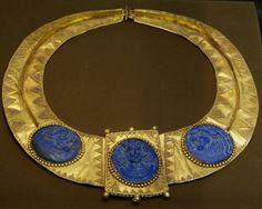 Altın kolye sasaniler zamanından kral ve iki aslan 220-650. yy.