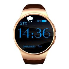 """Find More Smart Watches Information about  New smart watch phone KW18 MTK2502C 1.3"""" round screen IPS 240X240 Bluetooth 4.0 Anti lost alert  Remote camera smartwatch,High Quality phone k600,China phone band Suppliers, Cheap phone from BTL Store on Aliexpress.com"""