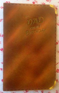 Vintage 1950s Die-Cut Birthday Greeting Card Pocket Secretary & Mini Cards