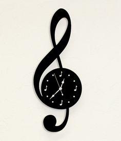 Treble Clef Clock #treble #clock #music