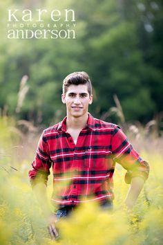 high school senior boy, field