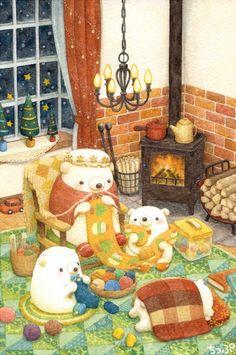 Good Granny is knitting