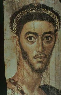Fondation J.-E Berger-World Art Treasures, Portrait d'un officier romain Epoque romaine: 110-130 Er-Rubayat Egypty