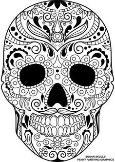 Sugar Skull Coloring Page Pages Mandala Book Printable