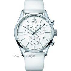 Mid-size Calvin Klein Masculine Chronograph Watch K2H27101