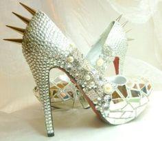 Cinderella's Revenge...Swarovski crystals, broken shards of glass. Available on Etsy