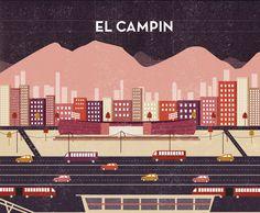 El Campín by Michelle Mildenberg, via Behance