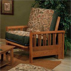 Elite Products Renaissance Junior Twin Oak Futon Chair Frame - 35-2102-008 - Lowest price online on all Elite Products Renaissance Junior Twin Oak Futon Chair Frame - 35-2102-008