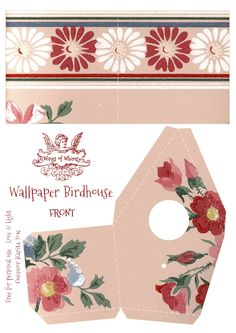 Wings of Whimsy: Wallpaper Birdhouse No 21