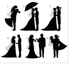 Bride And Groom Silhouette Cake Stencil
