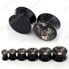 6sizes Acrylic Lion solid Tunnel Plug Piercing Expander PUNK