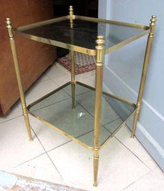 Art Deco Tisch Kaufen : Art Deco Tisch Messing Glas Vintage Beistelltisch Nachttisch Regal ...