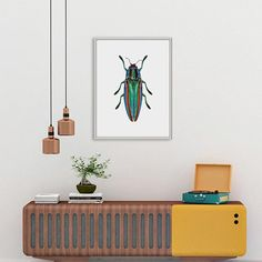 Beetle Wall Print, Insect Photography Print, Jewel Beetle Print, Insect Wall Art, Beetle Printable, Beetle Photography, Jewel Beetle Decor