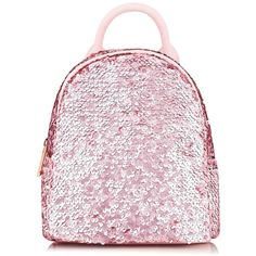 Sequin Mini Backpack by Skinnydip (€33) ❤ liked on Polyvore featuring bags, backpacks, accessories, backpack, borse, mochila, pink, plastic backpack, mini bag and plastic bag