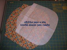 com o molde riscado no papel risque e corte no tecido. acrescente margem de costura.