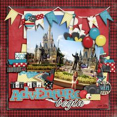 Disney Scrapbook Layout - Let the Adventure Begin